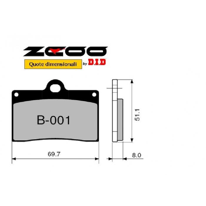 Coppia Pastiglie Racing B001 Ex C...