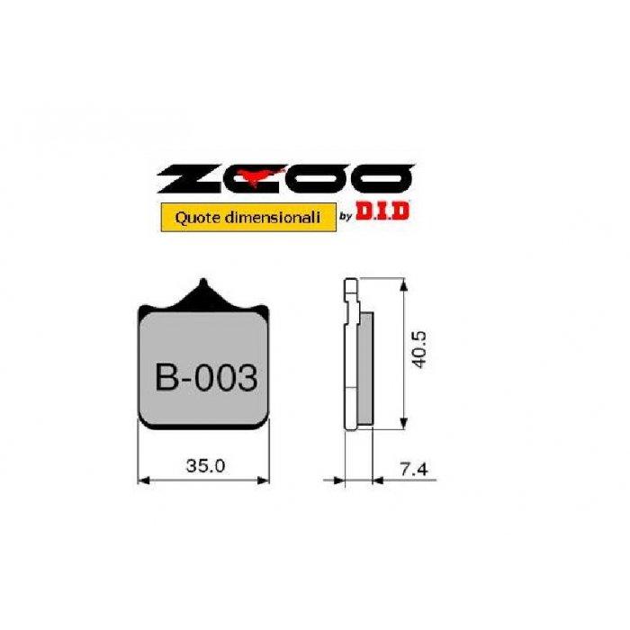 Coppia Pastiglie Racing B003 Ex C...