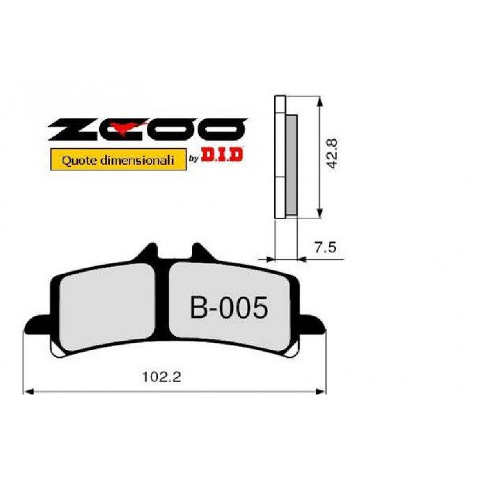 Coppia Pastiglie Racing B005 Ex C...
