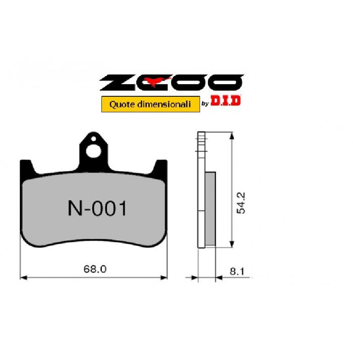 Coppia Pastiglie Racing N001 Ex  Cod....