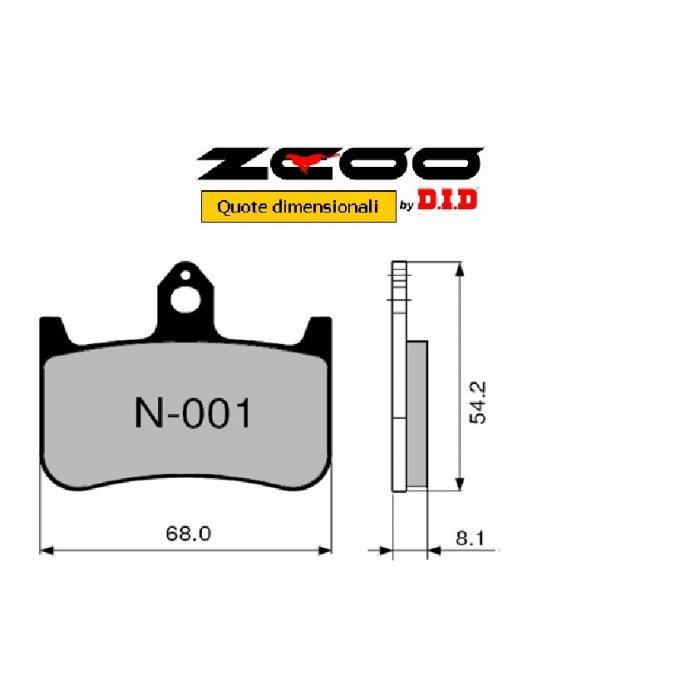 Coppia Pastiglie Racing N001 Ex C...