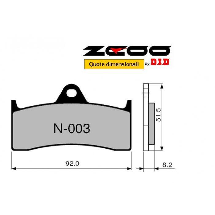 Coppia Pastiglie Racing N003 Ex  Cod....