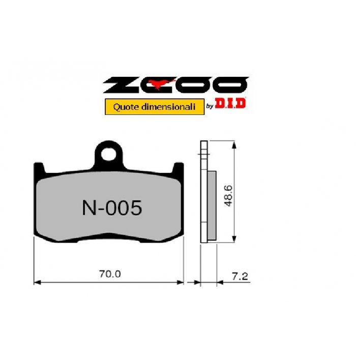 Coppia Pastiglie Racing N005 Ex  Cod....
