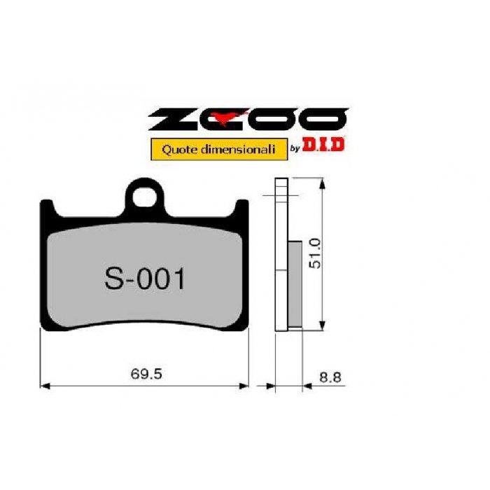 Coppia Pastiglie Racing S001 Ex  Cod....