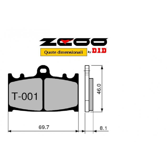 Coppia Pastiglie Racing T001 Ex  Cod....