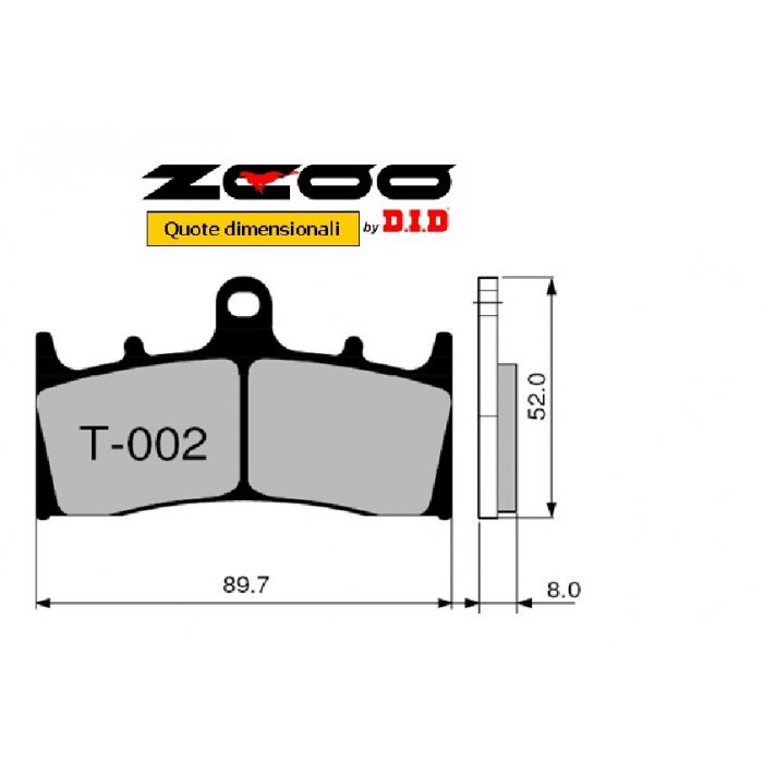 Coppia Pastiglie Racing T002 Ex  Cod....