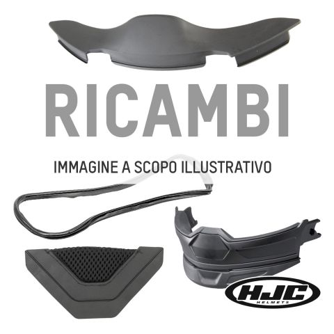 Mentoniera Di Ricambio Hjc Per Rpha90 Semi Flat Titanium