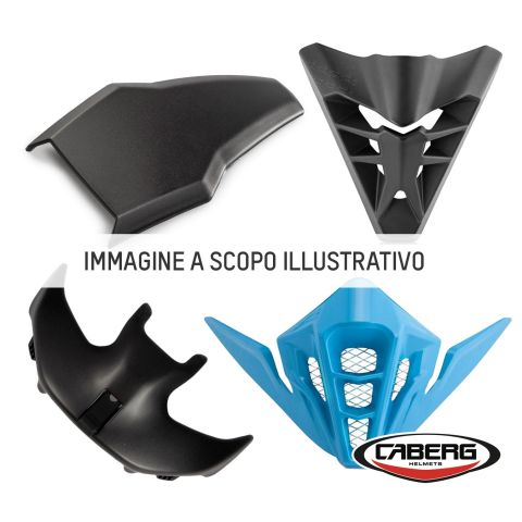 Aeratore Top Completo Nero Opaco Per Caberg Drift/drift Evo