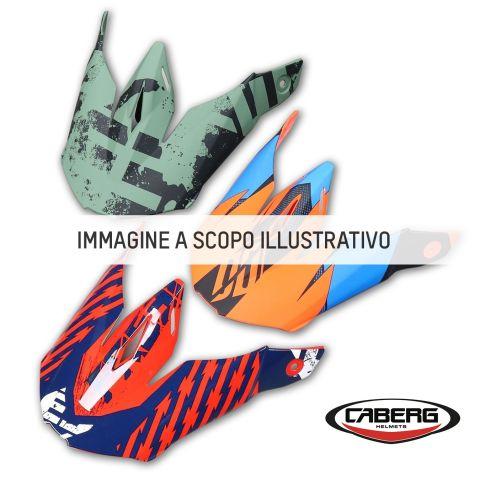 Frontino Nero Opaco +grafica Lux Giallo Fluo Per Caberg Xtrace