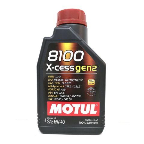 Olio Motul 8100 X-cess Gen2 5w40 Per Auto Conf 1lt Sintetico