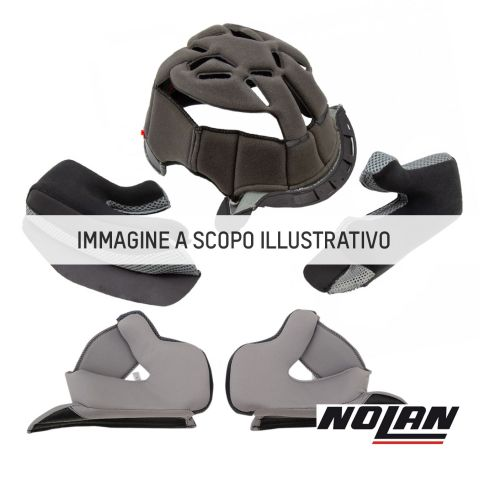 Nolan Interno Racing Tg.m Carbon Fitting Green Per X502/ultra