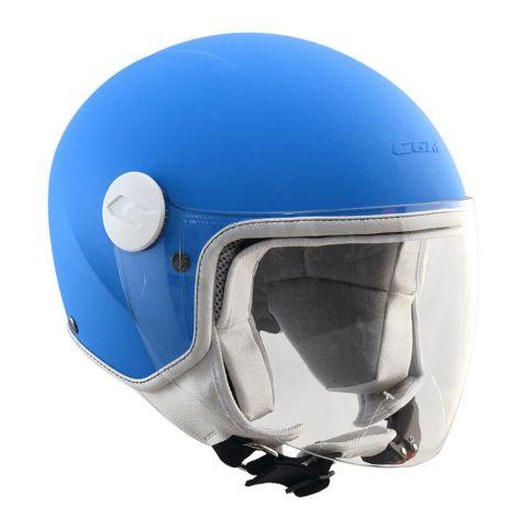 Casco Bambino Cgm 205a Magic Mono Azzurro Opaco