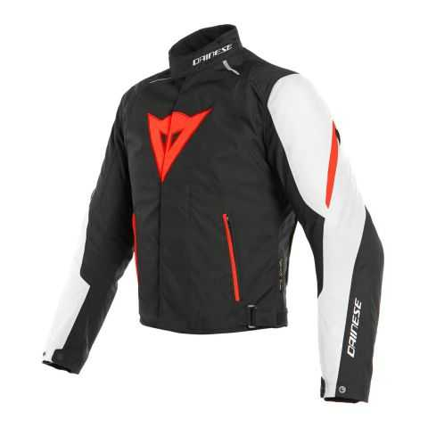 Giacca Dainese Laguna Seca 3 D-dry White/fluo Red/black