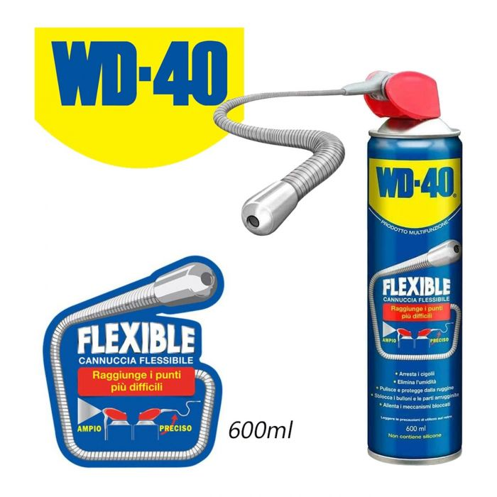 Wd-40 Flexible Con Cannuccia Flessibile 600ml