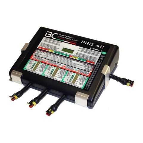 Bc Pro4s Caricabatteria A 4 Uscite + Supporto A Parete