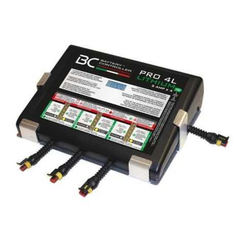 Bc Pro4l Caricabatteria Litio A 4 Uscite + Supporto A Parete