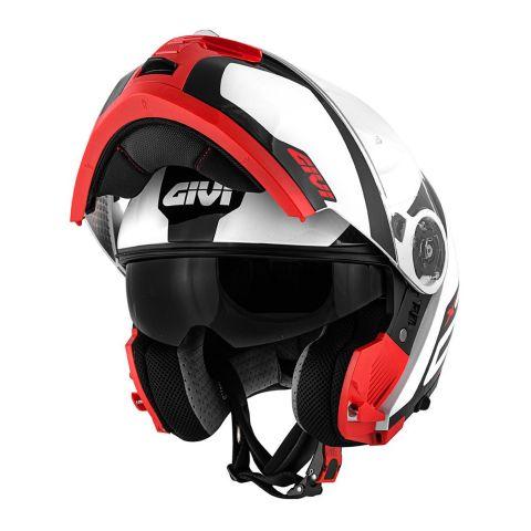 Gihx21fcasco Modulare Givi X21 P/j Challenger Spirit Bianco/nero/rosso