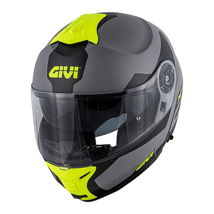 Gihx21fcasco Modulare Givi X21 P/j Challenger Spirit Grigio/nero/giallo