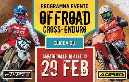 Evento Motorstock 29 febbraio: Off Road - Cross - Enduro
